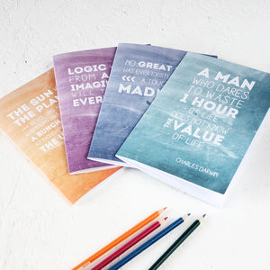 Famous Scientist Inspirational Quotes Notebook Set