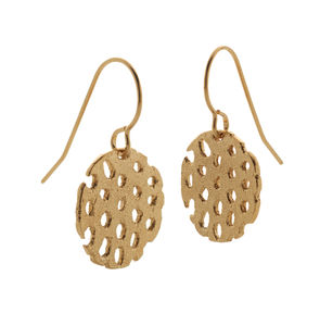 Remnant Gold Drop Earrings - earrings