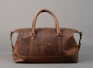 Vintage Leather Somerset Holdall - best father's day gifts