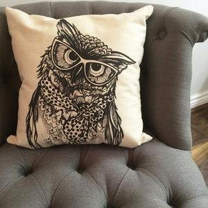 Wise Owl Cushion - patterned cushions