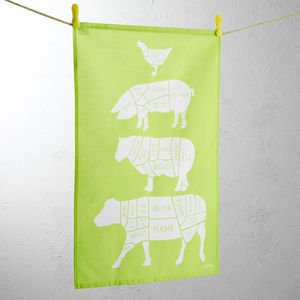 Bright Lawn Green Tea Towel