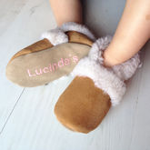 Personalised Children's Sheepskin Slippers - gifts for babies & children
