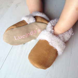 Personalised Children's Sheepskin Slippers - gifts for babies