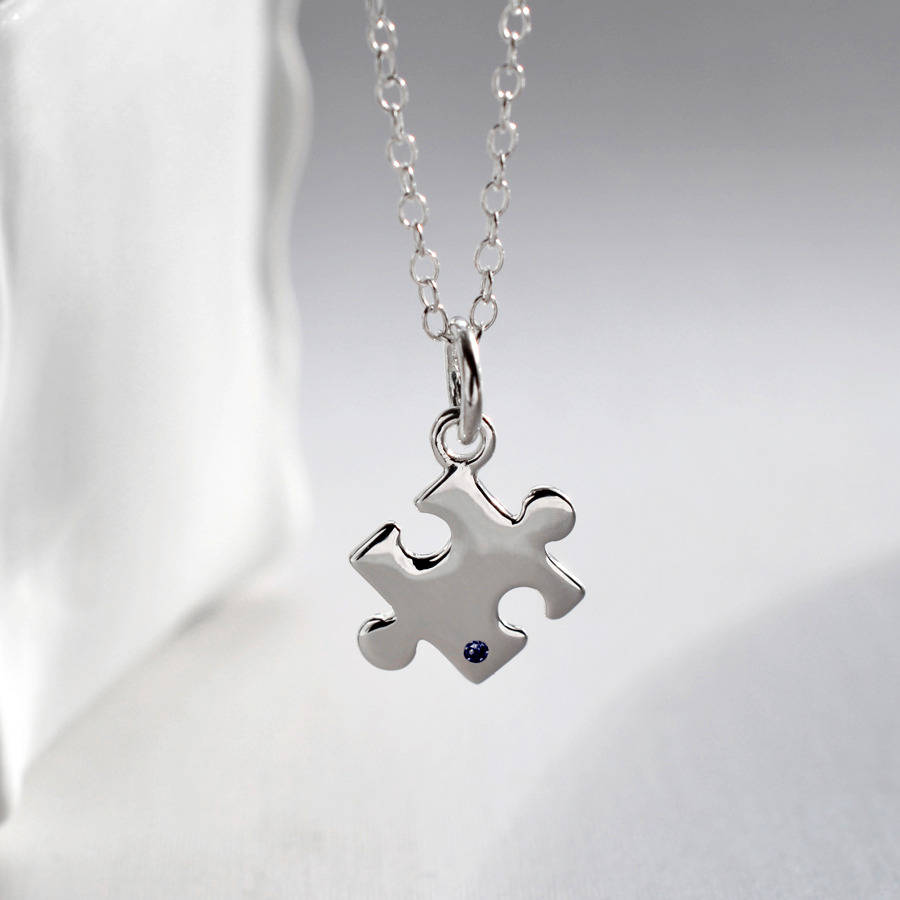 set product puzzle necklace wid pendant