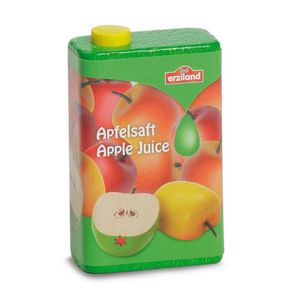 Wooden Cartons Of Apple, Cherry And Orange Juices