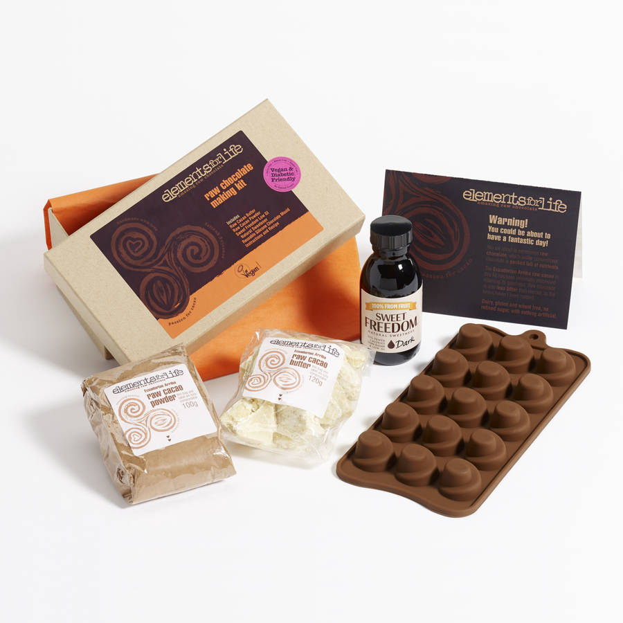 Dairy free gifts and hampers notonthehighstreet raw chocolate making starter kit dietary food and drink negle Images