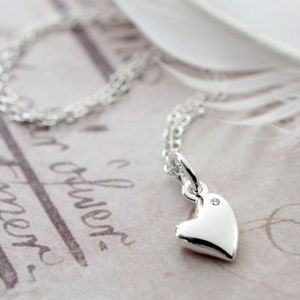 Diamond Kissed Heart Necklace