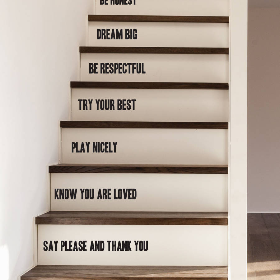 Family Rules Stair Stickers By Oakdene Designs