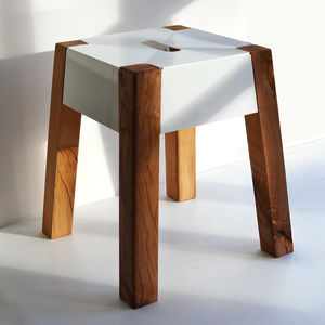 Storm Felled Beech Stool - living room