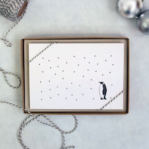 Snowy Penguin Christmas Card