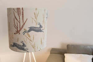 Hares And Grasses Lampshade - bedroom
