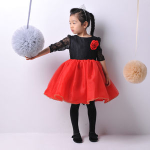 Girl's Party Dress With Bow Belt - dresses