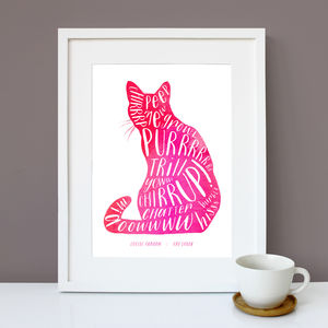 Personalised Cat Lover Print
