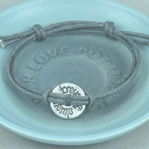 Personalised Silver Open Disc Friendship Bracelet