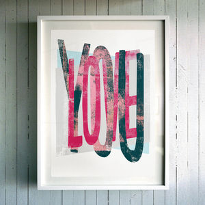 'Love You' Fine Art Giclée Print - gifts for him
