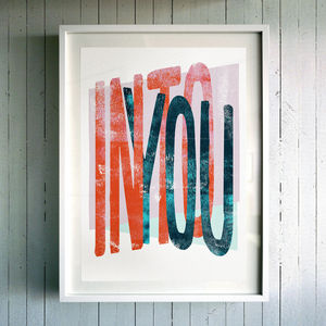 'Into You' Fine Art Giclée Print - typography
