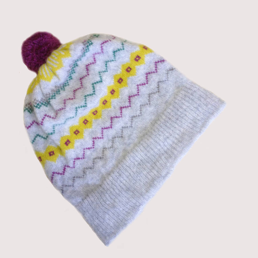 0670a788728 light and shade fair isle lambswool hat by izzie kemp ...