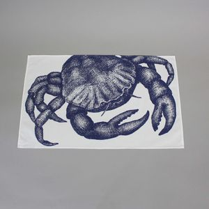 Crab Tea Towel - kitchen linen