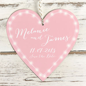 Personalised Fairy Lights Heart Tag