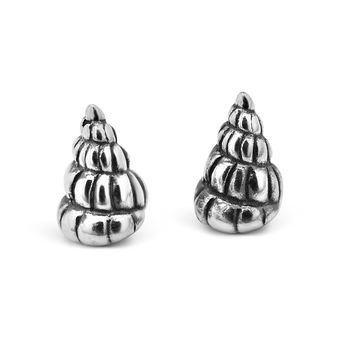 Sterling Silver Shell Studs