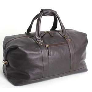 Tumble Leather Holdall - holdalls & weekend bags