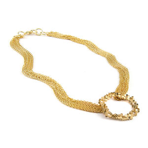 Multi Chain Small Honeycomb Necklace Reduced Price