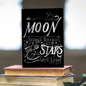 Moon Shines Bright Christmas Card