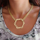 Multi Chain Large Honeycomb Necklace Reduced Price