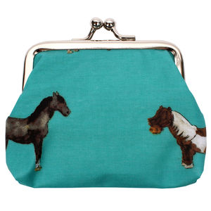 Horses Coin Clipper Purse - purses & wallets