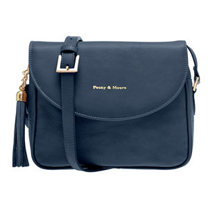 Daisy Navy Leather Handbag