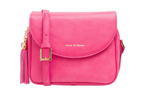 Daisy Bright Pink Leather Handbag - cross-body bags