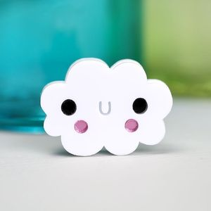 'Doodllery' Noodle Cloud Brooch - pins & brooches