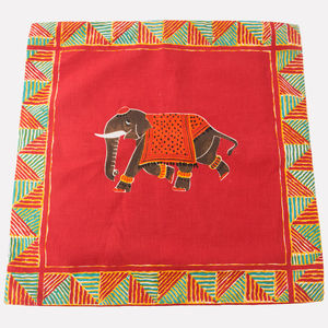 Indian Inspired Elephant Cushion Cover - bedroom