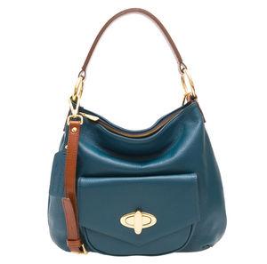 Georgia Teal Leather Handbag