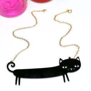 'Catnap' Black Sausage Cat Necklace