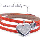 Sister's Leather Wrap Charm Bracelet