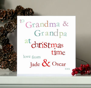 Personalised Grandma And Grandpa Christmas Card - cards
