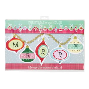 Christmas Family 'Merry Christmas' Garland - christmas parties & entertaining