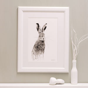 Hare Fine Art Giclée Print 'The Runners Two' - animals & wildlife