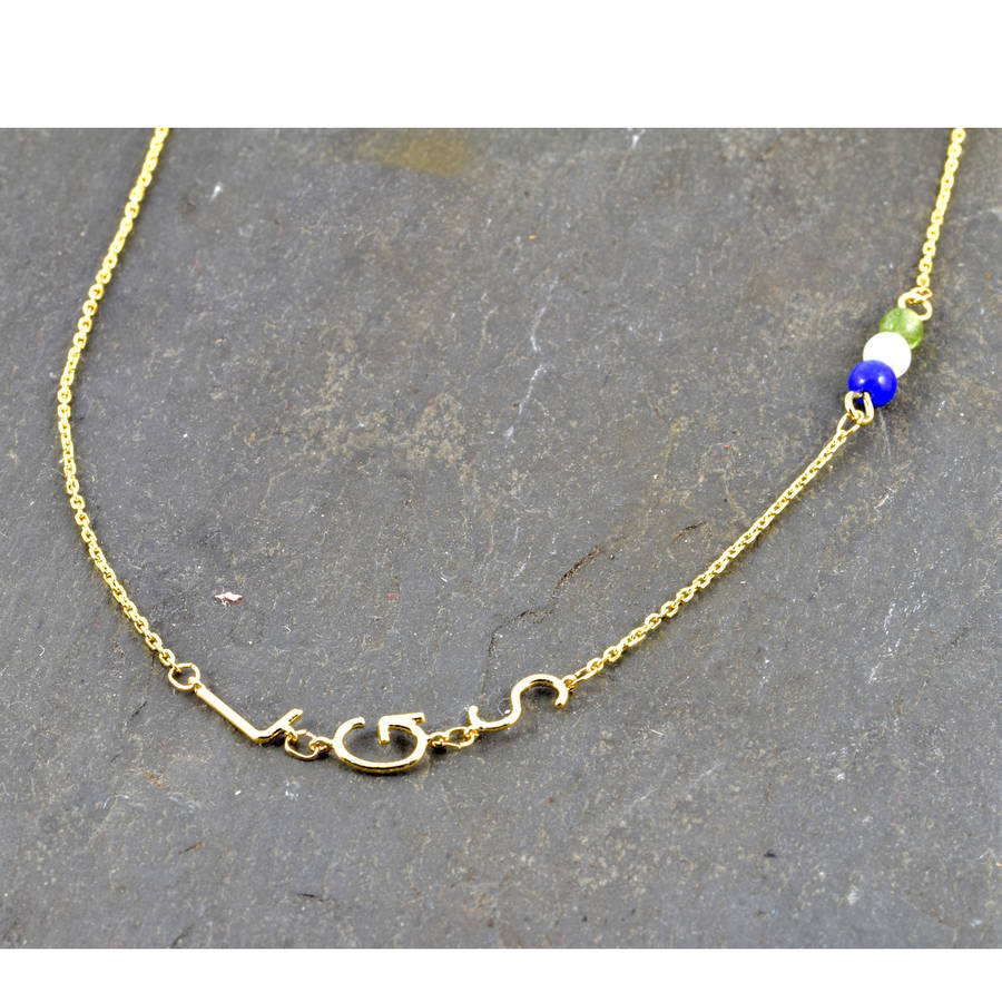 2e6a20758 personalised initial necklace with birthstone by dose of rose ...