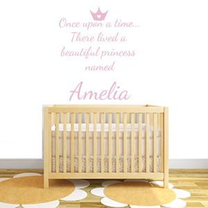 Personalised Princess Fabric Wall Stickers