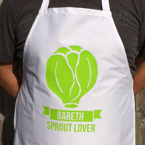 Christmas Sprout Personalised Apron