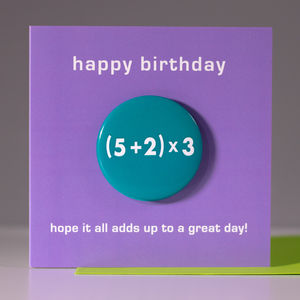 21st Birthday Card With A Badge To Wear - cards & invitations