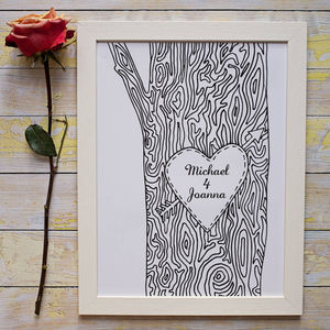 Personalised Tree Trunk Print