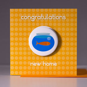 New Home Card With Badge