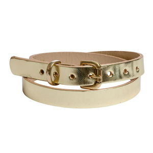 Leather Skinny Belt Medium Large - women's accessories