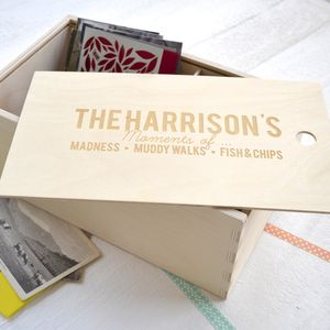 Personalised Family Keepsake Box