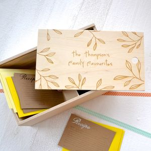 Personalised Family Favourites Recipe Box - boxes