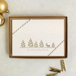 'Snow Is Falling' Reindeer Christmas Card