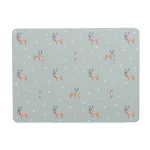 Stag Set Of Four Placemats